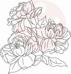 mooie rozen stempel