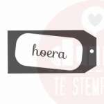 hoera label stempel