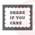 share if you care stempel