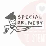 special delivery stempel