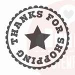 thanks for shopping stempel met ster