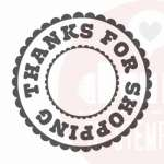 thanks for shopping stempel