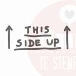 this side up stempel