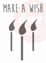 make a wish stempel