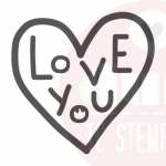 love you stempel