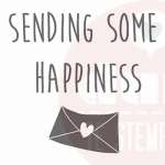sending some happiness stempel
