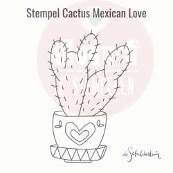 Cactus mexican love stempel