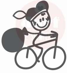 piet op de fiets stempel