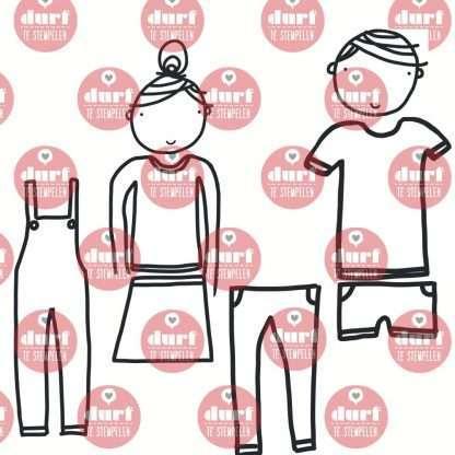 Aankleedpoppetjes stempelset