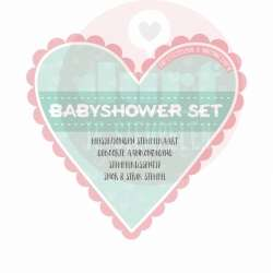 baby shower stempelkaart set