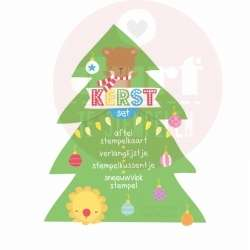 Kerst aftel stempelkaart set