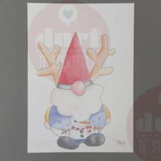 Kerstkaart kerst-gewei Neusje