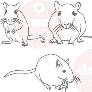 3 leuke muizen stempels
