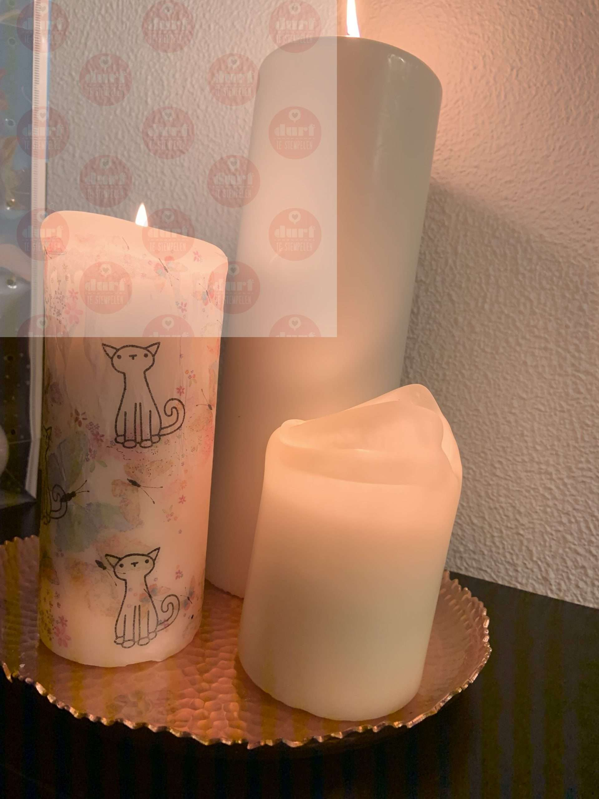 DIY: kaarsen, waxinelichtjes en stempels
