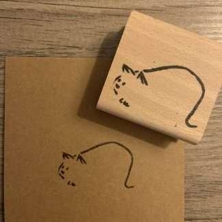 Kattenlijntekening stempel