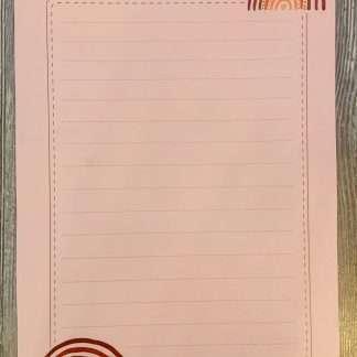 briefpapier regenboog bruin