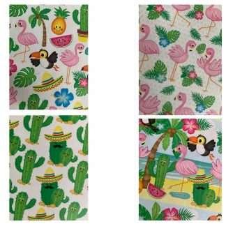 Papierset tropical met prints