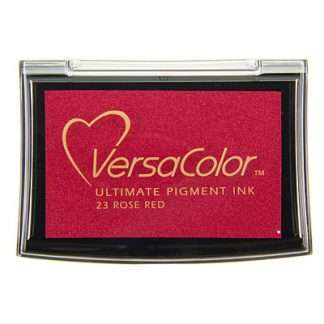 versacolor stempelkussen rose red