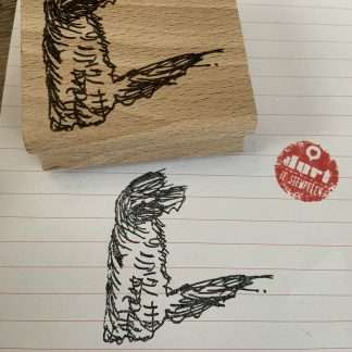 Barbet in de wind stempel