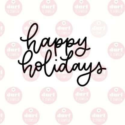 Happy holidays stempel