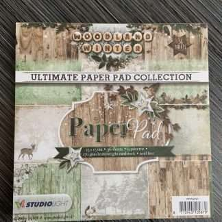 woodland winter paperpad