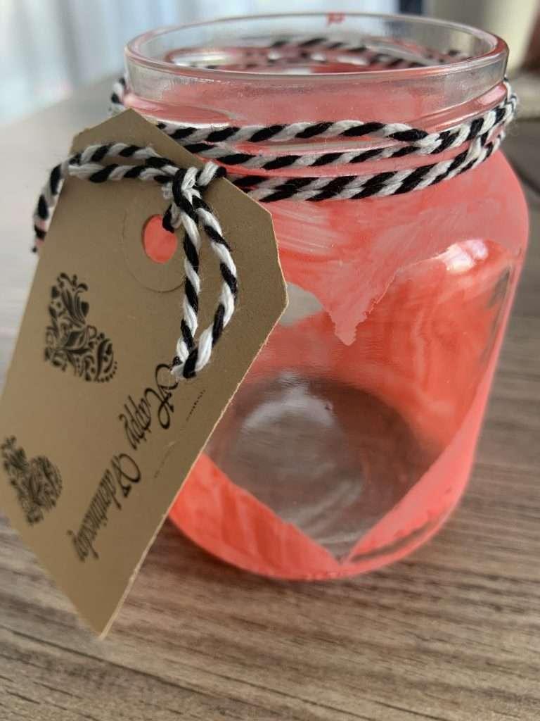 DIY Valentijn kaarsenhouder