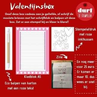 valentijnsbox van durftestempelen