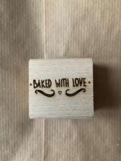 Baked with love stempel