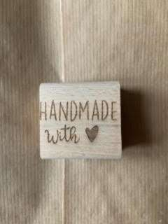 handmade with love stempel