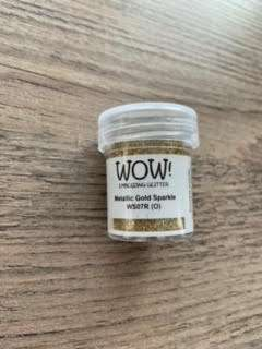 wow embossingpoeder metallic gold sparkle