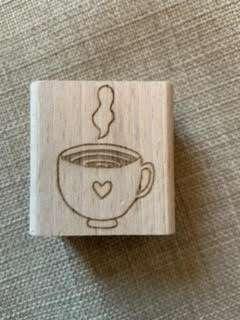 Kop koffie stempel