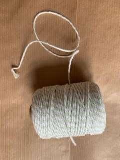 Licht grijs/wit touw